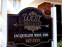 West Dentistry sign